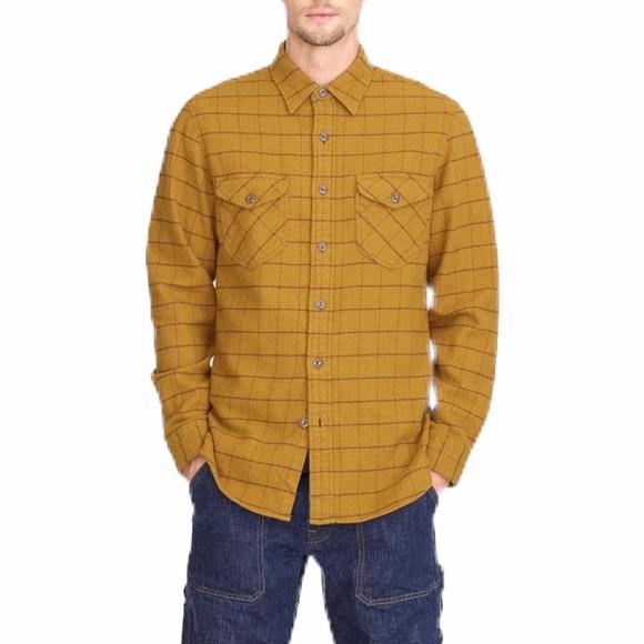 J. Crew Wallace & Barnes Woodside Windowpane Flannel Button Down Shirt